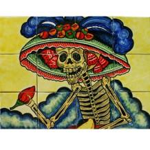 Day of the Dead tile mural